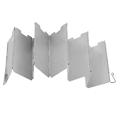 Parabrisas N-A, 9 placas de aluminio para barbacoa Picnic Camping equipo