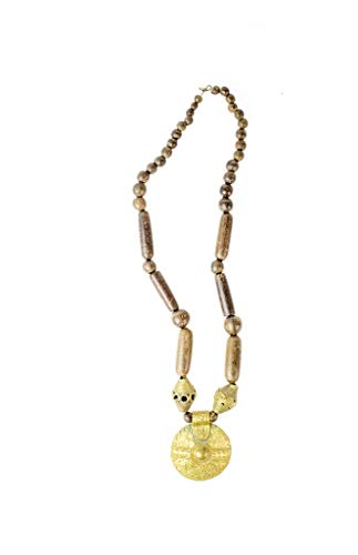 The African Touch Collar Baule con herraje Akan