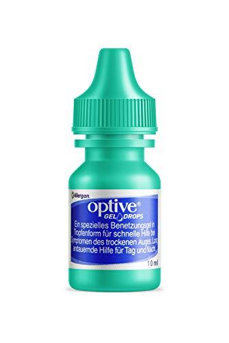 Allergan Optive® GEL DROPS Augentropfen gegen trockene Augen | 10 ml Augentropfen Gel für Nachts | Hyaluron Augentropfen Gel gegen trockene Augen