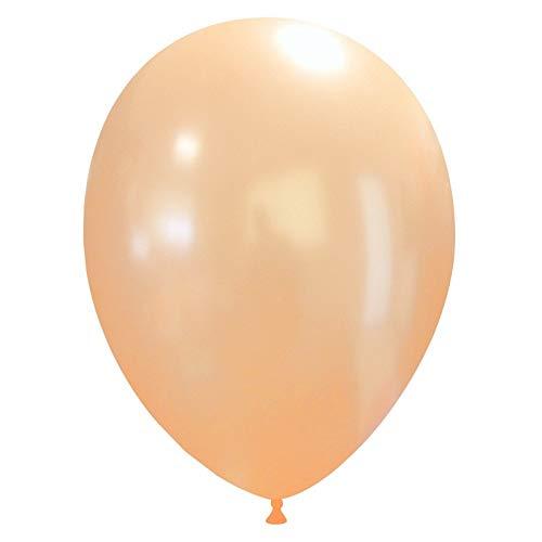eventkauf 50 metallic Luftballons (Farbe wählbar) (Pfirsich)
