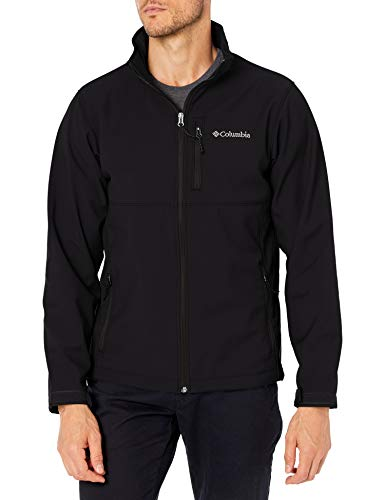 Columbia Men's Ascender Softshell Front-Zip Jacket, Black, Medium