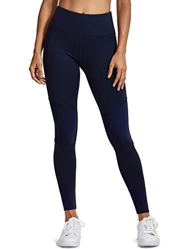 CRZ YOGA Femme Legging de Sport Fitness Running Taille Haute en Tissu Léger Navy- R409 38