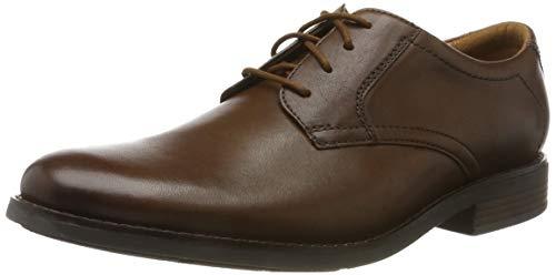 Clarks Becken Lace, Zapatos de Cordones Brogue para Hombre, Marrón (Dark Tan Lea Dark Tan Lea), 41 EU