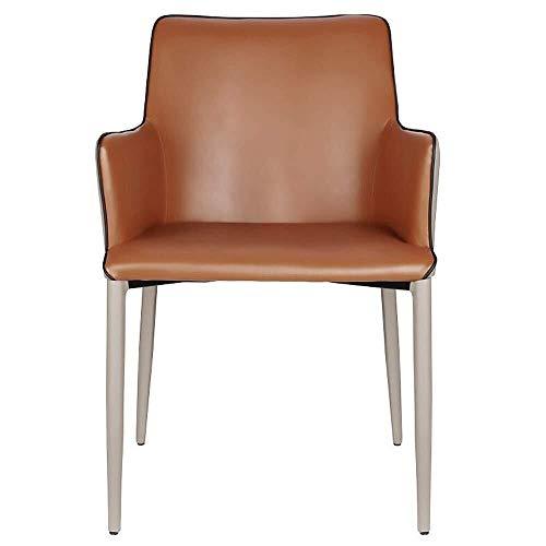 HONYGE LXGANG Sillas de comedor para cocina, tocador, silla de salón, moderna y minimalista, adecuado para el hogar, hotel, restaurante, bar (color: marrón, tamaño: 52 x 51 x 80 cm)