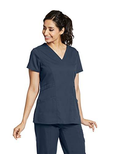 Grey's Anatomy 41452 V-Neck Top Steel L