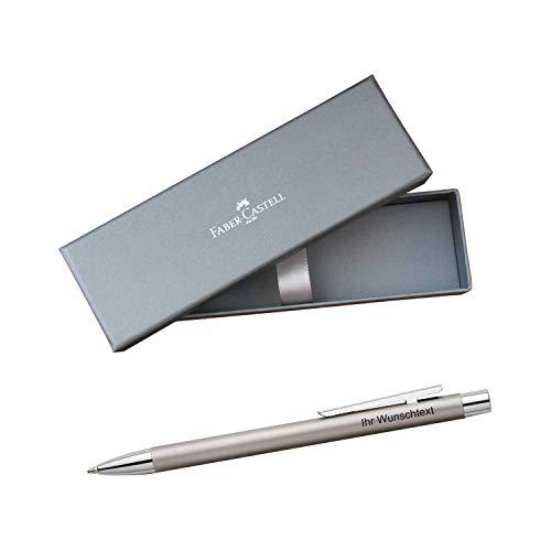 Faber-Castell Kugelschreiber NEO Slim Edelstahl matt, inkl. Laser-Gravur