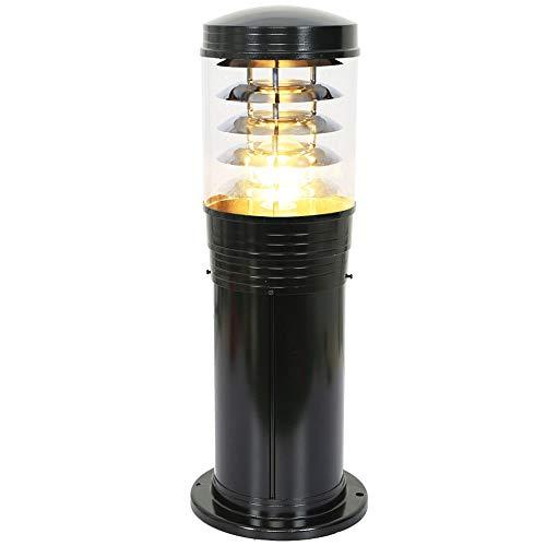 Lantaarn van aluminium met gegoten voor buiten, lampion, met lampenkap, staafje, energie, A ++)