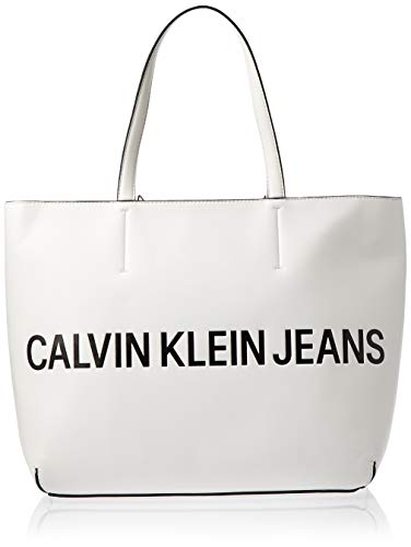 Calvin Klein Sculpted Logo Damen Tote/Shopper Weiß