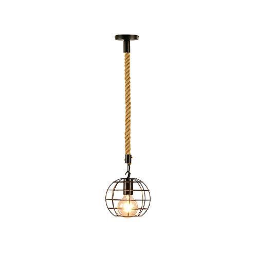 Zpzzy Colgantes de Metal Industrial Luz Pendiente de la lámpara Iluminación de Droplight para la Cocina Isla, Dormitorio, Comedor Habitación Clásica lámpara de suspensión cáñamo