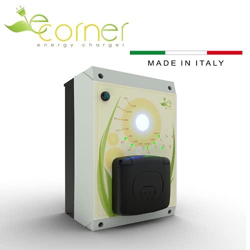 E-Corner Wall-Box Ricarica Auto (Tipo 2 240V 32A 7.4 kW)