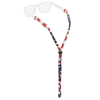 Chums Original LTD Polyester Standard End Eyewear Retainer USA Flag Standard