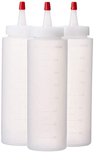 Great Credentials Squeeze Bottles Clear Set of 3, 8-oz (8 OZ.)