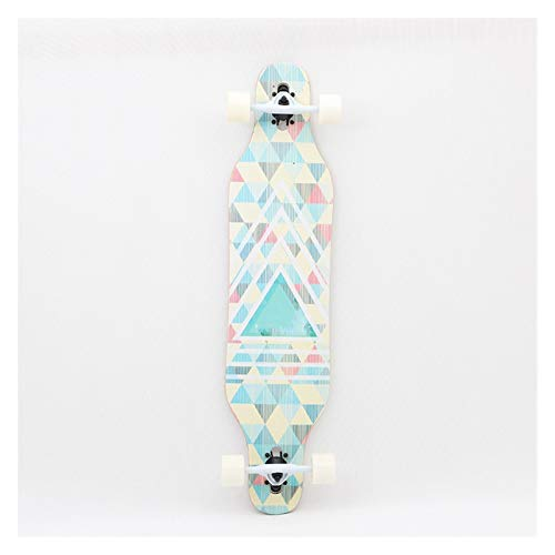 Skateboard Grip Tape Skateboards 41Inch Skateboards for Adults and Teenagers,Maple Cruiser Skate Board, Including Truck, PU Wheels, Back Pattern for Skateboard,Rollerboard,Scooter ect (Color : E)