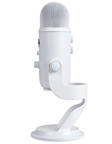 Blue Microphones Yeti, Microfono USB per Registrazione e Streaming su PC e Mac, 3 Capsule del Condensatore, 4 Modalità di Rilevamento, Uscita Cuffie e Controllo Volume, Bianco