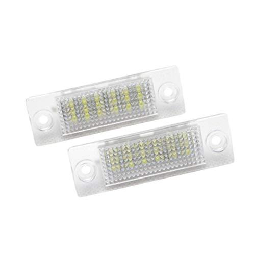 Yuquanxin 2ST Auto Führte Nummernschild-Glühlampe for VW GOLF5 Plus-Caddy III Touran for Skoda Superb Led-Kfz-Kennzeichen-Licht-Lampe Dauerhaft (Size : 6500K)