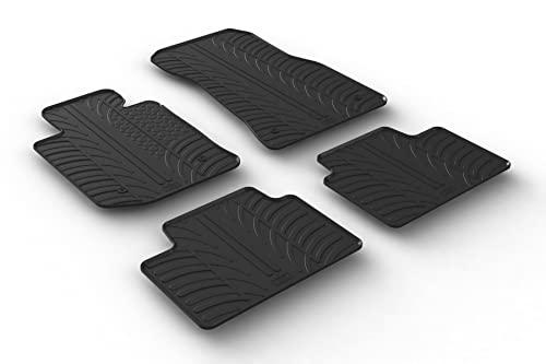 Set tapis de caoutchouc compatible avec BMW 3-Serie G20/G21 Sedan/Touring 3/2019- (T profil 4-pièces + clips de montage)