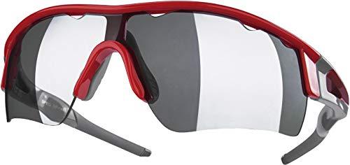 Crivit® Sport-Sonnenbrille, Halbrand (SP-1485, rot grau glänzend)