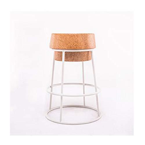 Barkrukken voor keukens, metalen barkruk met eiken kussen Stijlvolle en moderne stoelen, voor keuken, eetkamers en Side Bar -P3.15