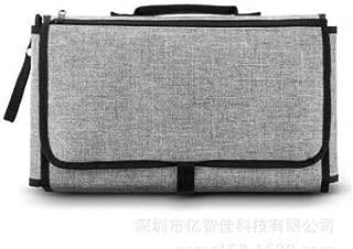 Waroomss B/éb/é Diaper Pad /à langer Portable FoldableDiaper sac /à langer voyage tapis de voyage pour les nourrissons et les nouveau-n/és Noir