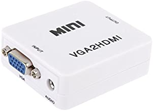 Normal 1080P Mini VGA to HDMI Audio Video Converter for HDTV, PC, Laptop and DVD,Light and Beautiful, Easy to Carry.