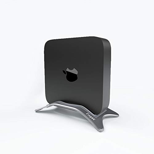 Alloy Desktop Stand for Mac Mini, Tinpec Aluminum Vertical Stands Holder with Anti-Slip Rubber Feet Compatible with Apple MAC Mini 2010-2020 (Space Gray)