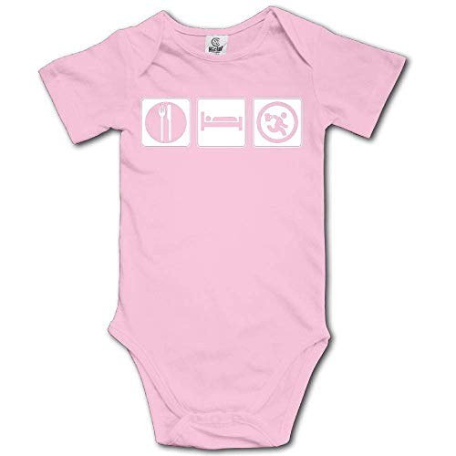 sunminey Vêtements bébé Baby Bodysuit Eat Sleep Work Short Sleeves Triangle Romper Bodysuit Outfits Infant Toddler Clothes