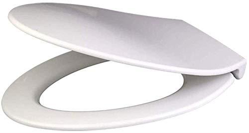 JN toiletbril toiletbril Lengthen V Type toiletdeksel met antibacteriële Urea-Formaldehyde hars gemakkelijk schoon te maken toiletbril met bevestigingsset Premium toiletdeksel