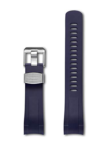 CRAFTER BLUE Correa del Reloj Extremo Curvado de Goma Compatible con Tudor Heritage 41mm Black Bay M79230R-0011, M79830RB-0001, M79230DK-0008