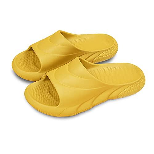 Sandale Orthopedique Tennis Compensées Tennis Velcro Extérieur Robe Tendance Uniforme Détente Bout Rond Mules Heels Shoes Slip on Quilted(Jaune,35)