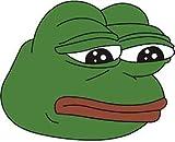 LA STICKERS Funny Meme - Pepe Frog - Sticker Graphic - Auto, Wall, Laptop, Cell, Truck Sticker for Windows, Cars, Trucks