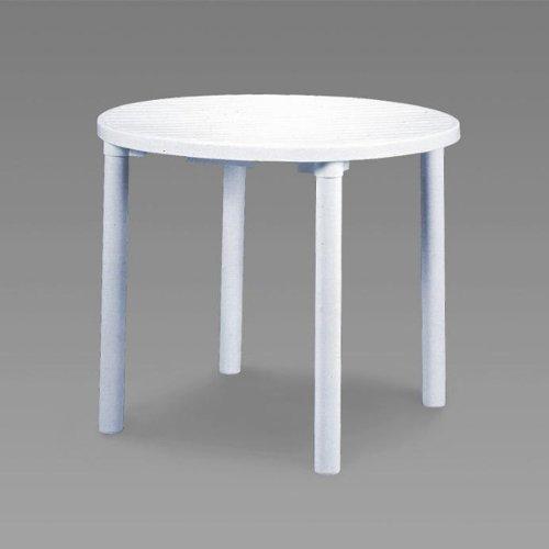 伸和(SHINWA) カフェテーブル900(丸) ホワイト