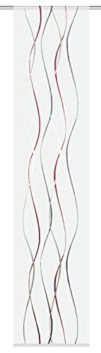 Home Fashion SCHIEBEVORHANG Voile SCHERLI, Stoff, rot, 245 x 60 cm