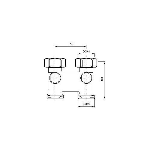 Oventrop Hahnblock Umlenkstück Durchgangsform für vertauschten Vor- und Rücklauf