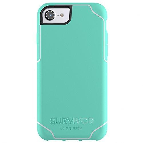 Griffin Survivor Journey Custodia per iPhone 6/6s/7, Verde (Verde Menta/Verde Chiaro)