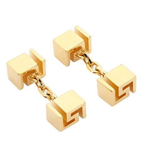 VERSACE Herren-Manschettenknöpfe griechischer Schlüssel goldfarben