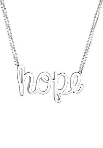 Elli Halskette Damen Hope Schriftzug edel in 925 Sterling Silber