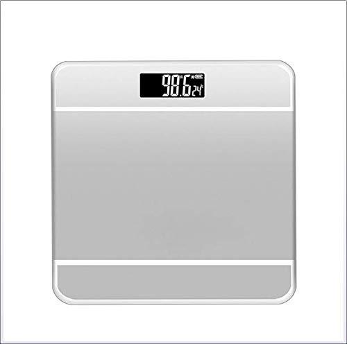Gymy hogar mini báscula electrónica de la salud de la báscula de cuerpo humano báscula electrónica de peso de vidrio de la balanza