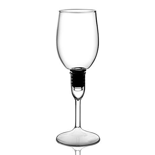 ChengBeautiful Vaso De Whisky De Cristal Creativa del Vidrio de Vino de Alta borosilicato Transparente de Cristal Copa de Vino Copa de Vino Whisky de Cristal (Color : White, Size : One Size)