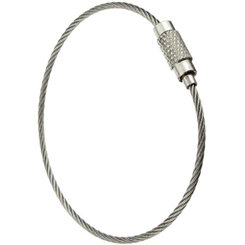 Wire Keychain Stainless Steel Cable Loop Keyring Home Keyring Hanging Luggage Tag Car Keys Organization Hanging Luggage Tag,15cmx1.5mm