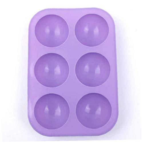 LAVALINK Molde 3D Silicona Formas para Utensilios De Cocina De 6 Agujeros para Hornear De Chocolate Mitad Esfera De La Bola del Molde De La Magdalena DIY De La Torta del Mollete De Cocina