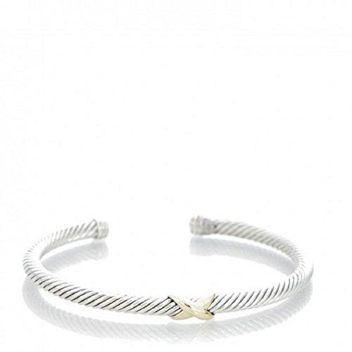 David Yurman Women's X-Station Cable Bracelet Medium Silver & Gold by David Yurman David Yurman Gold Bracelet