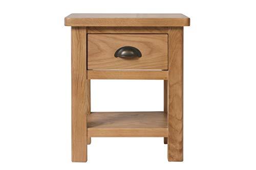 Rooksley Lampentisch, Holz, rustikale Eiche, Einheitsgröße