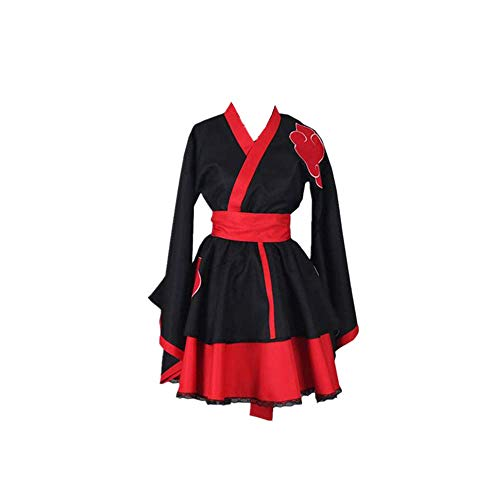 ULLAA Anime Naruto Akatsuki Halloween Carnaval Cosplay Disfraz Casual Lolita Gótico Japonés Kimono Vestido Tallas Grandes