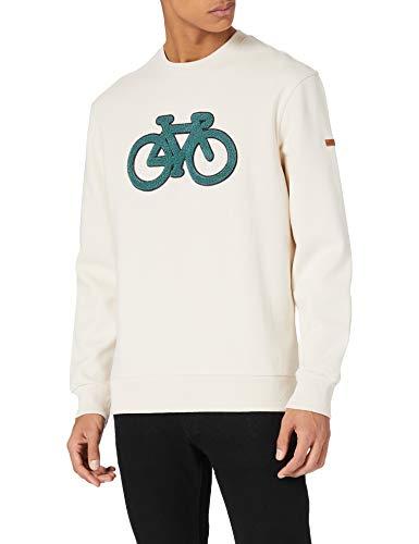 Springfield Sudadera Caja Bici Reconsider, Multicolor, S para Hombre