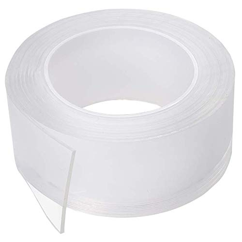 Nano Double Sided Tape Multipurpose Wall Tape Adhesive Strips Grip Removable Transparent Tape Washable Heavy Duty Traceless Reusable Strong Sticky Mounting Grip Tape Gel Poster Tape Anti-Slip Gel Pads