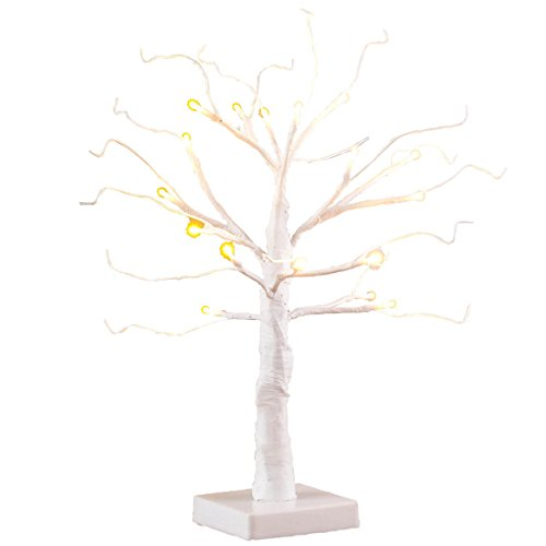 """HOLIDAY PEAK Fox Valley Traders 18"""" All Seasons Artificial Tree, Pre-Lit White Wire"""