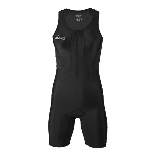 ZAOSU Damen Trisuit Z-Revolution | Triathlonanzug Einteiler für den Wettkampf und das Training, Farbe:schwarz, Größe:M