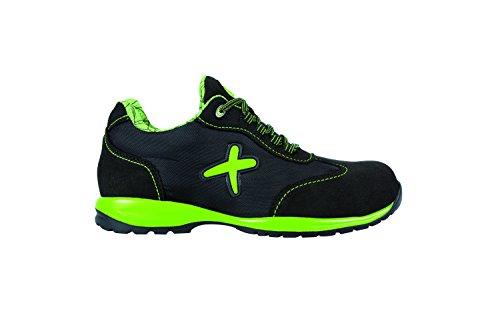 Exena 1100072321474 - Verde - scarpe di protezione del lavoro, dimensione 47, nero e verde