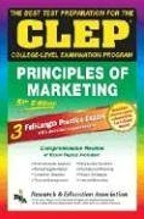CLEP Principles of Marketing, 5th Ed  (REA) -The Best Test