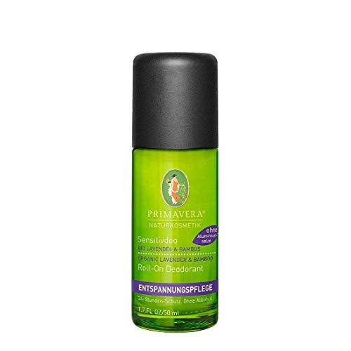 PRIMAVERA Sensitivdeo Lavendel Bambus 50 ml - milder Duft, 24-Stunden-Schutz, ohne Aluminiumsalze und Alkohol - vegan